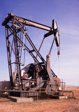 Texas Oil Pump Jack Fracking Crude Extraction Machine Stock Image