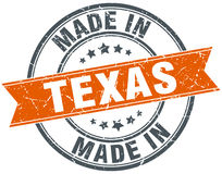 Texas orange grunge ribbon stamp Royalty Free Stock Photography