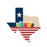 Texas People Strong Logo Illustration Imágenes de archivo libres de regalías