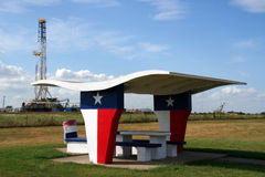Texas Picnic Table royalty free stock photography