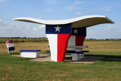 Texas Picnic Table stock images