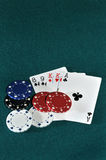 Texas Poker. Poker, a game of risk for the gamers Royalty Free Stock Photos