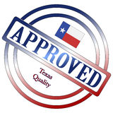 Texas Quality Approved Stamp Fotos de archivo libres de regalías