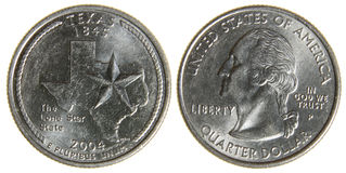 Texas Quarter Stock Images