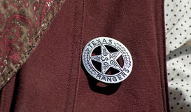 Texas Ranger Badge. Stock Photos