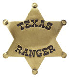 Texas Rangers-Abzeichen Lizenzfreie Stockfotos