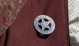 Texas Rangers-Abzeichen Stockfotos
