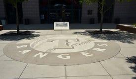 Texas Rangers Baseball Club Logo imagen de archivo