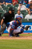 Texas Rangers Catcher Lizenzfreies Stockfoto
