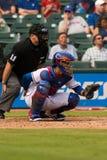 Texas Rangers Catcher Royaltyfri Foto