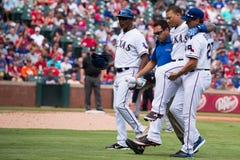 Texas Rangers hirió al jugador Foto de archivo libre de regalías