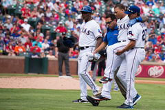 Texas Rangers injured player Royalty Free Stock Photo