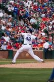 Texas Rangers miotacza Colby Lewis rzut piłki Obraz Royalty Free