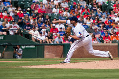 Texas Rangers Pitcher Colby Lewis breddsteg Royaltyfri Fotografi
