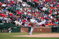 Texas Rangers Pitcher Colby Lewis Pitching Stock Photography
