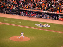 Texas Rangers Pitcher Darren Oliver throws pitch from mound Royalty Free Stock Image