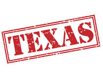Texas red stamp Stock Photography