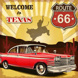 Texas retro poster. Welcome to Texas retro poster Royalty Free Stock Photography