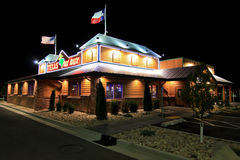Texas Road House at night Royalty Free Stock Images