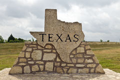 Texas Road Marker Made of Stone Stock Photography
