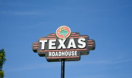 Texas Roadhouse Steakhouse. Sells prime steaks, seafood, and other American food fare stock images