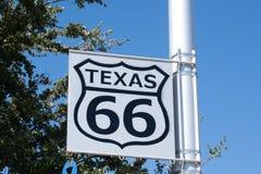 Texas Route 66 Teken Stock Fotografie