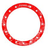 Texas Rubber Red Ink Stamp Stock Foto