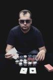 Texas rymmer dem poker Arkivfoton