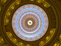 Texas Sate a abóbada do Capitólio (para dentro) imagem de stock royalty free