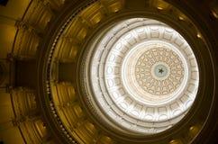 Texas Sate Capitolkupolen (inom) Arkivfoto