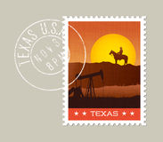 Texas scenic sunset behind rock ridge Stock Photos