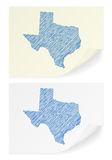 Texas scribble map Royalty Free Stock Images