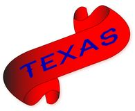 Texas Scroll. A parchment scroll with the words texas all over a white background Royalty Free Stock Images