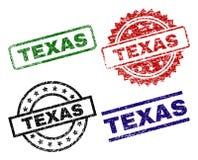 TEXAS Seal Stamps texturisé grunge Illustration de Vecteur