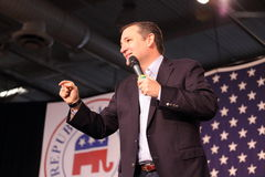 Texas Senator Ted Cruz macht einen Punkt während der Rede Lizenzfreies Stockbild
