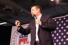Texas Senator Ted Cruz makes a point during speech. Royalty Free Stock Image