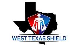 Texas Shield Template Images libres de droits