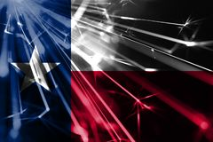 Texas shining fireworks sparkling flag. New Year 2019 and Christmas shiny futuristic party concept flags. Texas shining fireworks sparkling flag. New Year 2019 stock photography