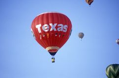 Texas Sign on the hot air balloon Stock Image