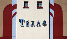 TEXAS sign on the wall stock image