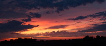 Texas Skyline del sud Fotografia Stock