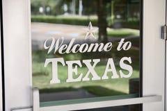 texas som ska välkomnas royaltyfria foton