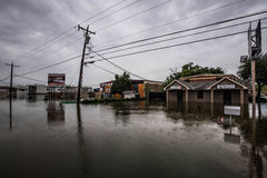 Texas spring flooding. Businesses flooded during the spring rains in north Texas Royalty Free Stock Images