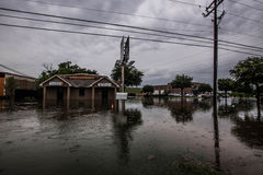 Texas spring flooding. Businesses flooded during the spring rains in north Texas Stock Photo