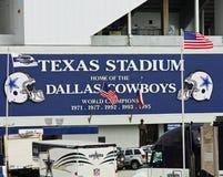 Texas Stadium i Irving, Texas Arkivbild