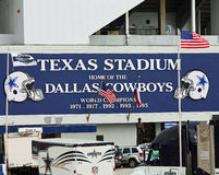Texas Stadium w Irving, Teksas Fotografia Stock