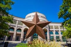 Texas Star delante de Bob Bullock Texas State History Museu Fotografía de archivo