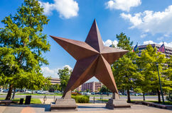 Texas Star delante de Bob Bullock Texas State History Museu Fotos de archivo