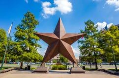 Texas Star delante de Bob Bullock Texas State History Museu Foto de archivo libre de regalías