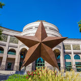 Texas Star in front of the Bob Bullock Texas State History Museu Royalty Free Stock Photography
